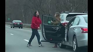 ROAD RAGE: Two women fight on highway