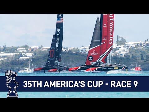 35th America's Cup Race 9 USA vs. NZL | AMERICA'S CUP (видео)