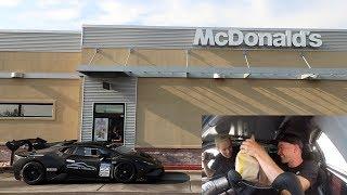 Driving an ILLEGAL Lamborghini Racecar thru McDonalds w/Tanner Fox