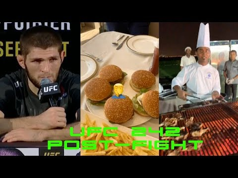 Did Khabib Get His Post-Fight Burger with Double-Cheese? UFC 242 His Real Next Opponent
