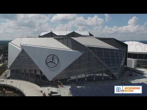 Take a look at the new technology at the Mercedes-Benz Stadium