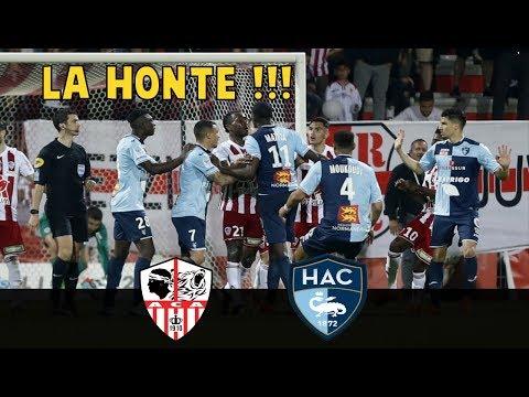 Vidéo: Ajaccio vs Le Havre – BAGARRE générale et insultes racistes, l'ACA sanctionné ?