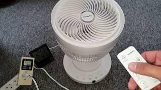 bester 3D Oszilation Ventilator!!! 35 Watt Brushless Motor beste Luftzirkulation bei warmen Wetter