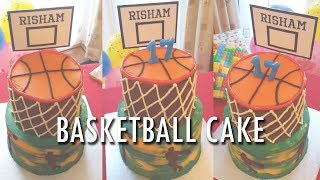 Basketball Cake Decorating (Stephen Curry/Golden State Warriors)