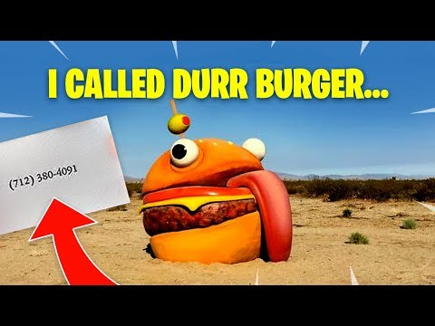 Call Durr Burger Challenge Fortnite What Happens When You Call Durr Burger Fortnite Battle Royale Netlab