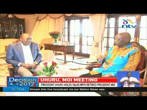 President Uhuru Kenyatta meets retired President Moi