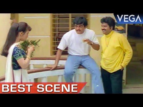Maanu Goes To Meet Ajith    Kaadal Mannan Movie    Best Scene
