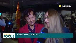 Golden Man Procession through the Museums of the World in Tashkent