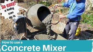 How to Mix Concrete with a Cement Mixer