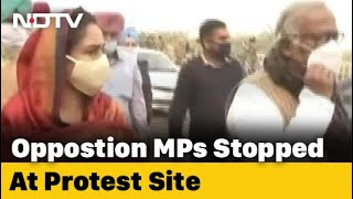 Opposition Leaders Stopped At Farmers Protest Site - Download this Video in MP3, M4A, WEBM, MP4, 3GP
