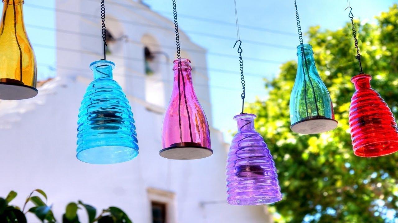 Ιδέες για χρηστικές κατασκευές από γυάλινα βάζα και μπουκάλια