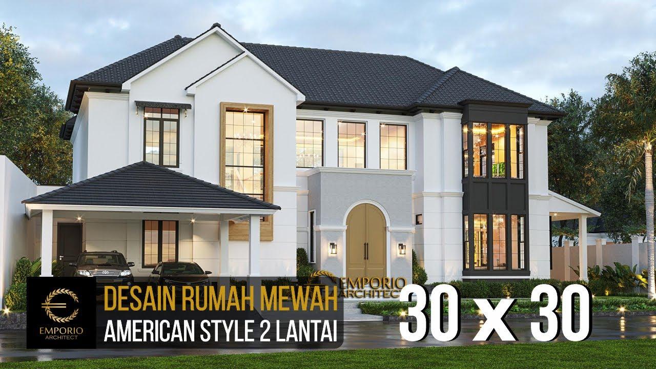 Video 3D Desain Rumah American Style 2 Lantai Ibu Patricia - Bogor, Jawa Barat
