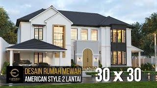 Video Desain Rumah American Style 2 Lantai Ibu Patricia di  Bogor, Jawa Barat