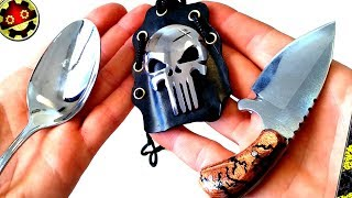 Mini Knife, Original Cover Spoon. Skull