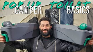 Pop Up Camper Cassette Toilet Basics   How to Fill Up, Use, Empty, Clean & Maintain!
