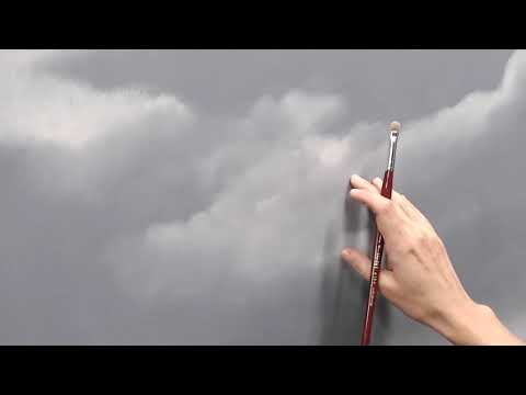 An excerpt of a long video about painting clouds.