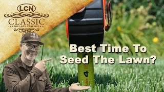 When's The Best Time To Seed The Lawn? Planting Grass Seed with Allyn Hane The Lawn Carew Nut