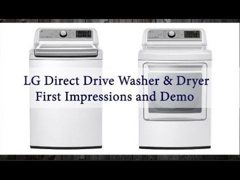 👕 LG High Efficiency Top Loader and Dryer || Review and Demo 👕