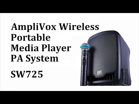 SW725 Wireless Portable Media Player PA System