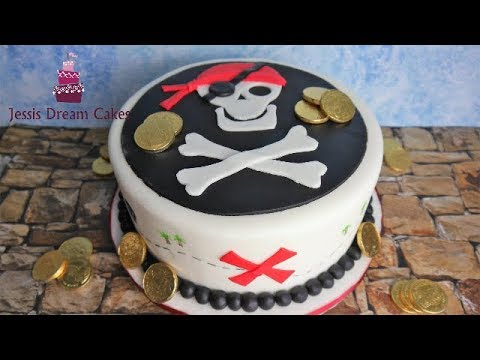 Einfache Piraten Torte für Anfänger/Kindergeburtstagstorte/Pirates Cake - von Jessis Dream Cakes