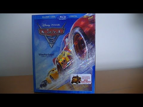 Cars 3 Blu-Ray/DVD Combo Pack - Unboxing!