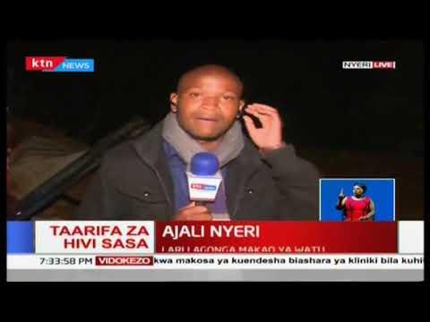 watu wanne wakiwemo watoto wauawa katika ajali Nyeri