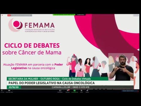 Secretaria da Mulher debate o papel do Legislativo na causa oncológica - 23/10/2020 15:03