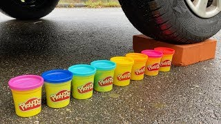 EXPERIMENT: CAR VS PLAY DOH - Crushing Crunchy & Soft Things by Car!