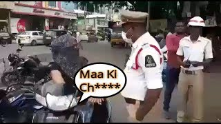 Ladki Ne Ki Police Officer Ke Saat Gali Galoj Aur Badtameezi | Vehicle Checking At Abids |