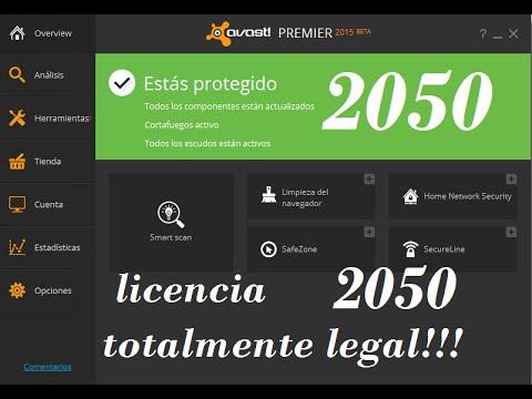 avast premier licencia hasta 2050