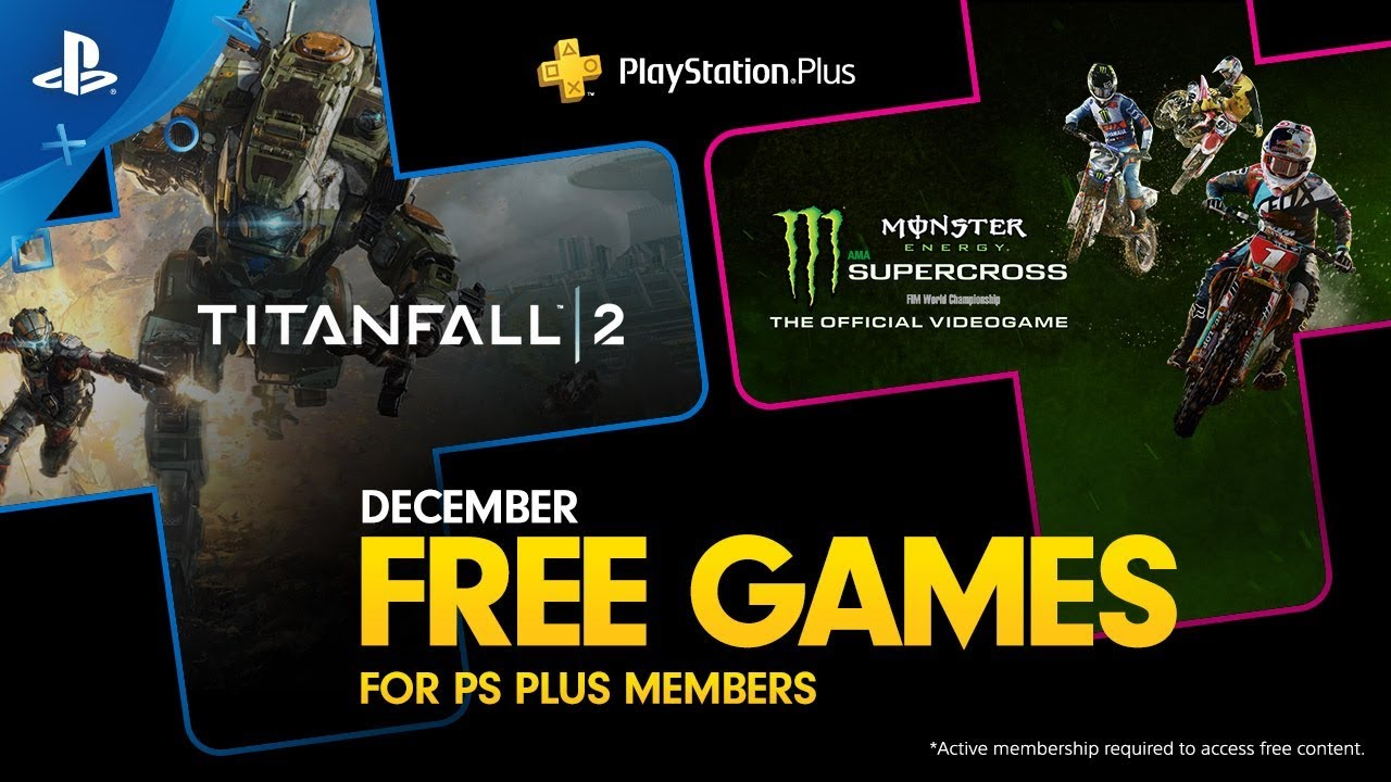 December's Free PS Plus Games: Titanfall 2 and Monster Energy Supercross — The Official Videogame