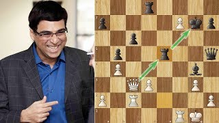 Anand dazzles the World with a Brilliancy against Caruana