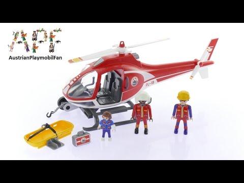 Vidéo PLAYMOBIL Action 9127 : Secouristes des montagnes avec hélicoptère
