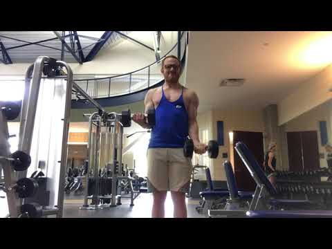 Isometric Dumbbell Bicep Curl