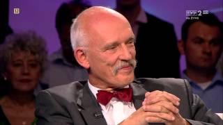 """Korwin-Mikke, Cegielski, Mela i Korwin-Piotrowska w """"Tomasz Lis na żywo"""" (HD)"""