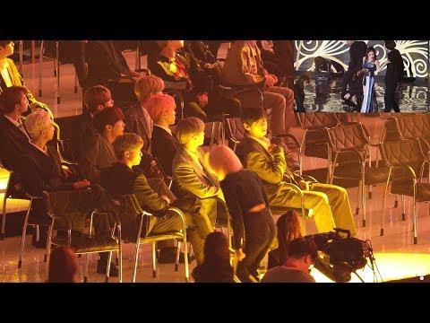 BTS Reaction to ChungHa (청하 무대보는 방탄소년단) 4K 직캠 by 비몽