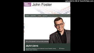 Looking back... BBC Radio interview with me discussing DUST - on the John Foster Show. Merry Christm