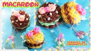 Diy Loom Bands Macaron Charm Rainbow Loom Tutorial彩虹橡筋馬卡龍編織教學