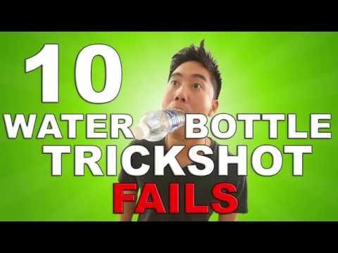 Water Bottle Trickshot FAILS (BTS) (видео)