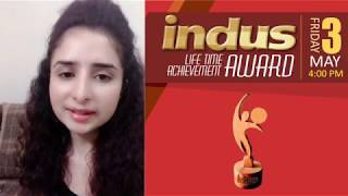 Indus Life Time Achievement Award Lahore Singer Farwah Khan