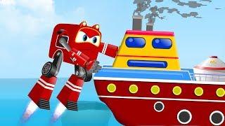 Supercar Baby Rikki rescue little shark from marine Pollution | Kids Car Cartoon Rhymes