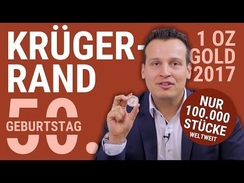 KRÜGERRAND 2017 - 50. Geburtstag   Limitierte Auflage: 100.000 Stück - 1 Unze Gold Krugerrand Münze