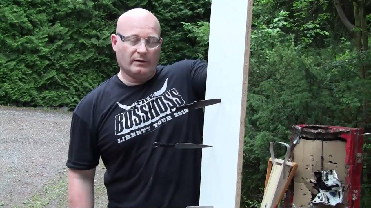 Throwing, Knife-Shooting Slingshot Massacre