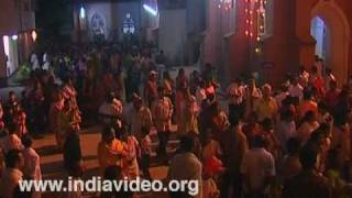 Christmas night at a Kerala Church