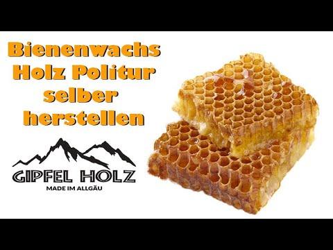 Bienenwachs Holz Politur - Möbelpolitur - Antikwachs selber herstellen DIY Anleitung