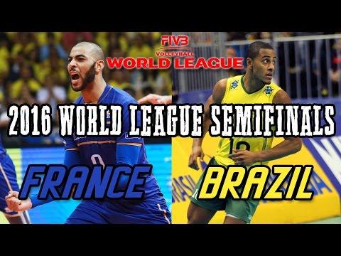 brazil vs france 2016 world league semifinals full match all