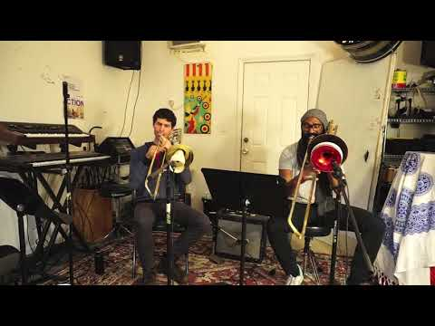 Here's a trombone duo piece of mine that incorporates some loop pedal.
