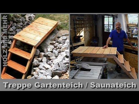 Teich Treppe mit Podest - Sauna Zubehör - Schwimmteich