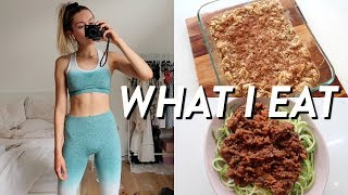 WHAT I EAT IN A DAY TO STAY FIT AND HEALTHY! *Realistic* 2019