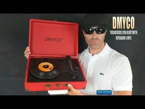 DMYCO Tocadiscos en maletín con bluetooth y codificador a mp3
